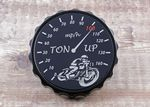"Bonneville Thruxton T100 & Scrambler. Petrol/Gas Cap: Black GRIP Type. ""Ton Up Boy's"""